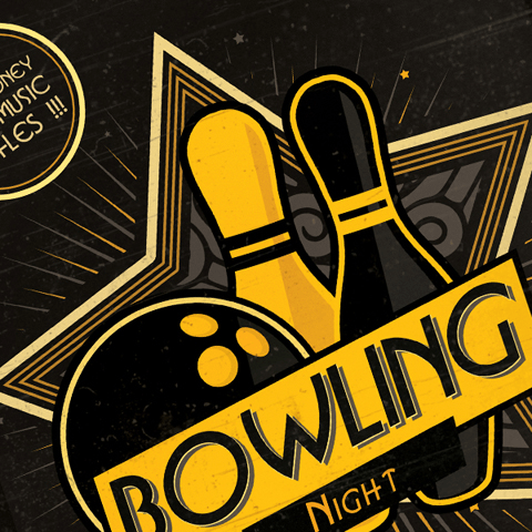 PSD Flyer template - bowling