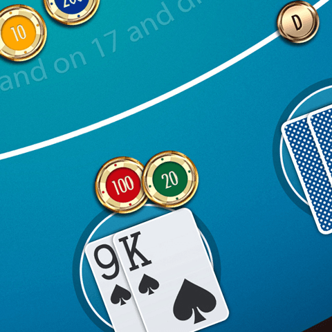 PSD Game Card GUI template - Casino Game