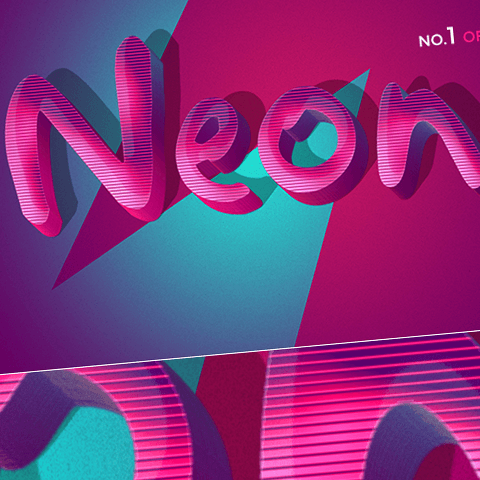 Retro Funky 3D Text Effects - 10PSD