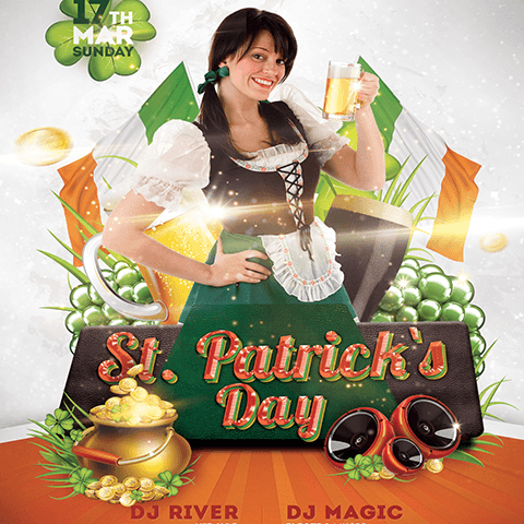 PSD Flyer template - St. Patrick's Day